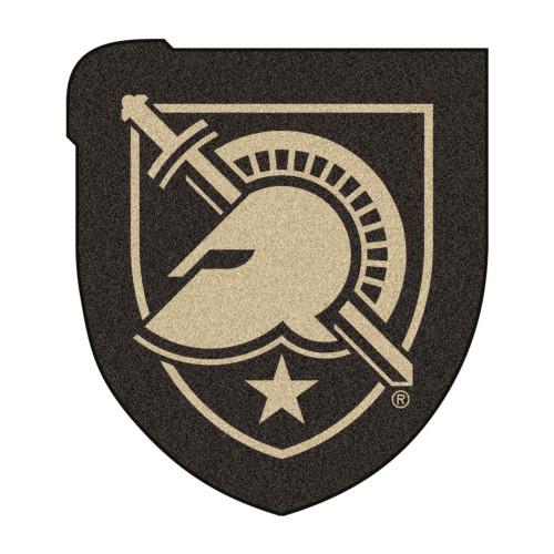 "30"" x 33.75"" Black and Beige U.S. Military Academy Mascot Novelty Logo Door Mat - IMAGE 1"