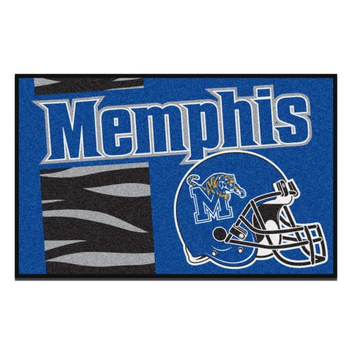 "19"" x 30"" Blue and Black NCAA University of Memphis Tigers Starter Mat - IMAGE 1"