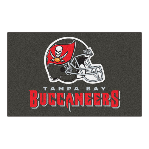 """59.5"""" x 94.5"""" Gray and Red NFL Tampa Bay Buccaneers Rectangular Ulti-Mat - IMAGE 1"""