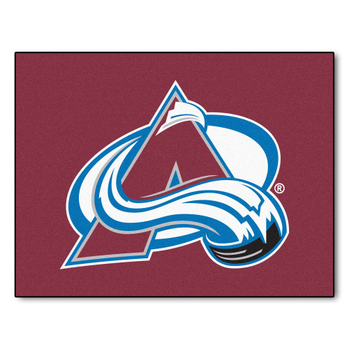 "33.75"" x 42.5"" Brown and White NHL Colorado Avalanche All Star Non-Skid Mat Area Rug - IMAGE 1"