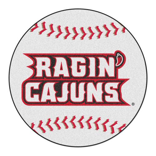 "27"" Red and Gray NCAA University of Louisiana-Lafayette Ragin' Cajuns Mat Area Rug - IMAGE 1"