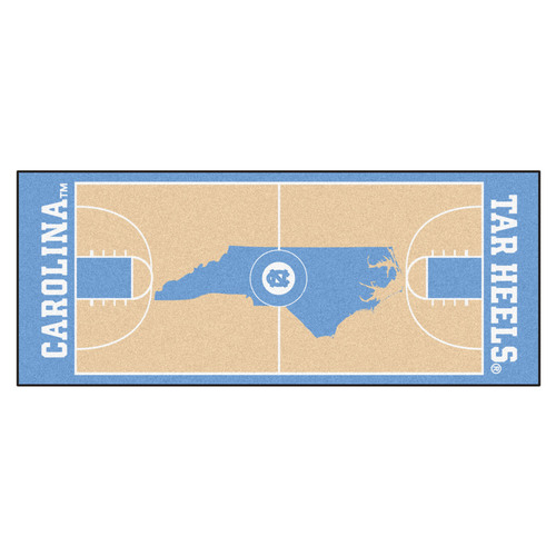 "30"" x 72"" Blue NCAA University of North Carolina Chapel Hill Tar Heels Basketball Rug Runner - IMAGE 1"