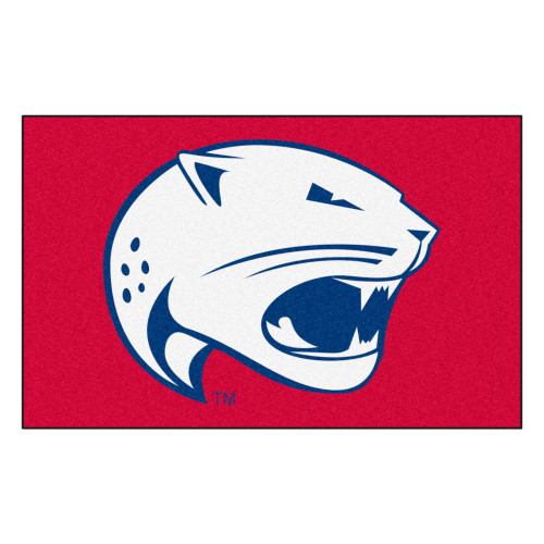 """59.5"""" x 94.5"""" Red and White NCAA University of South Alabama Jaguars Ulti-Mat Area Rug - IMAGE 1"""