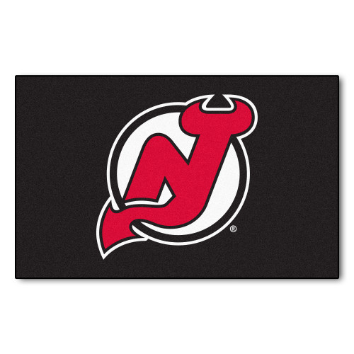 5' x 8' White and Red NHL New Jersey Devils Ulti-Mat Rectangular Area Rug - IMAGE 1