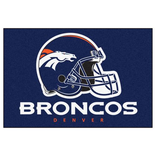 "33.75"" x 42.5"" Blue and White NFL Denver Broncos All Star Rectangular Door Mat - IMAGE 1"