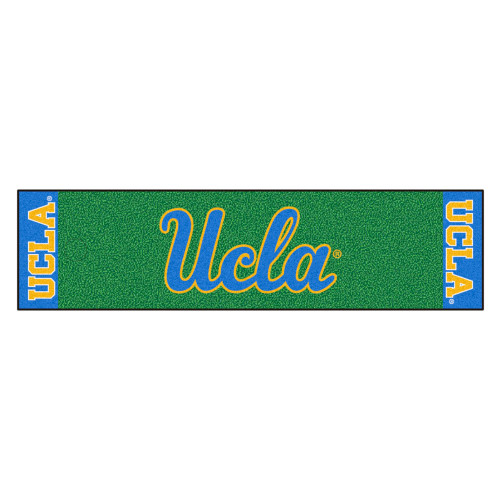 """18"""" x 72"""" Green and Blue NCAA University of California Los Angeles UCLA Bruins Golf Putting Mat - IMAGE 1"""