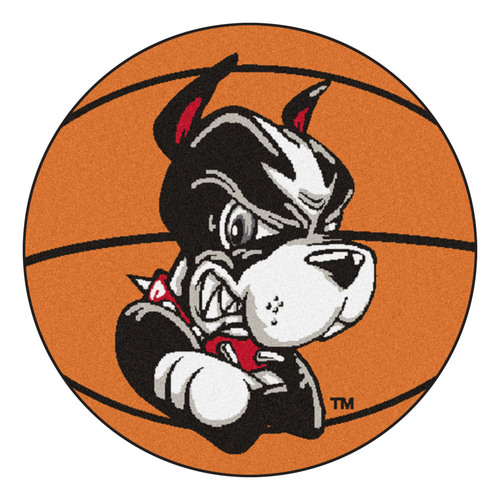 "27"" Black and White NCAA Boston University Terriers Basketball Mat Area Rug - IMAGE 1"
