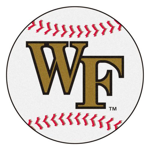 """27"""" White NCAA Wake Forest University Demon Deacons Baseball Mat - IMAGE 1"""