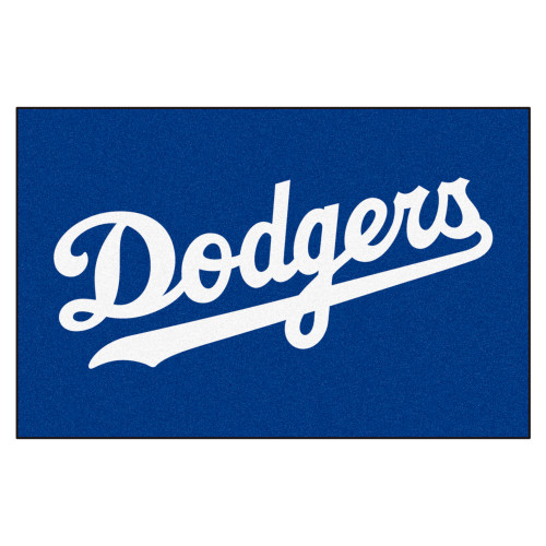 """19"""" x 30"""" Blue and White MLB Los Angeles Dodgers Starter Mat - IMAGE 1"""