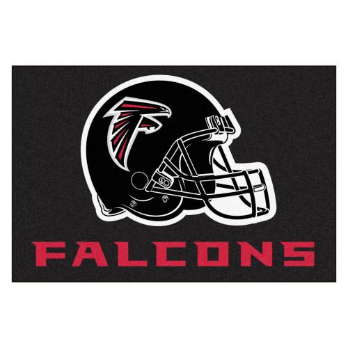 "33.75"" x 42.5"" Black and White NFL Atlanta Falcons All Star Rectangular Door Mat - IMAGE 1"