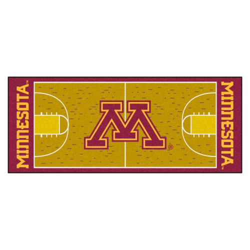 "30"" x 72"" Gold NCAA University of Minnesota Golden Gophers Basketball Non-Skid Mat Area Rug Runner - IMAGE 1"