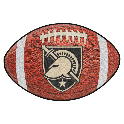 """20.5"""" x 32.5"""" Brown and White Contemporary U.S. Military Academy Football Mat - IMAGE 1"""