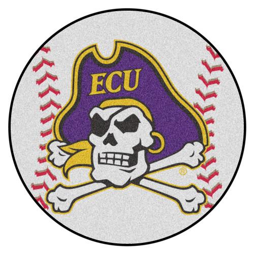 """27"""" Purple and Yellow NCAA East Carolina University Pirates Baseball Round Mat - IMAGE 1"""