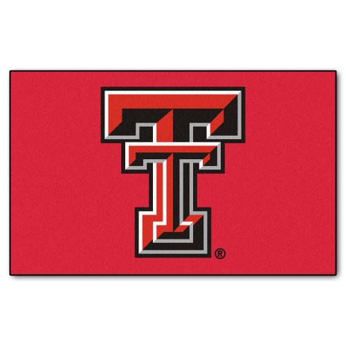 "59.5"" x 94.5"" Black NCAA Texas Tech University Red Raiders Ulti-Mat Rectangular Outdoor Area Rug - IMAGE 1"