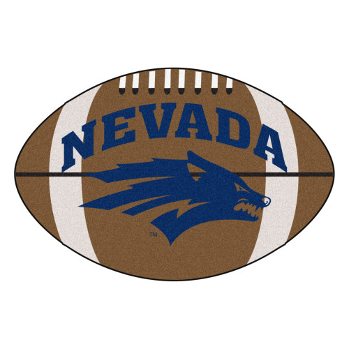 """20.5"""" x 32.5"""" Brown NCAA University of Nevada Wolf Pack Football Oval Mat - IMAGE 1"""