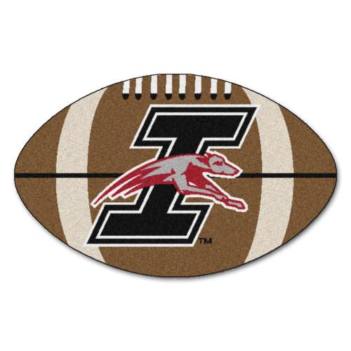 "20.5"" x 32.5"" Black and Brown NCAA University of Indianapolis Greyhounds Football Mat Area Rug - IMAGE 1"