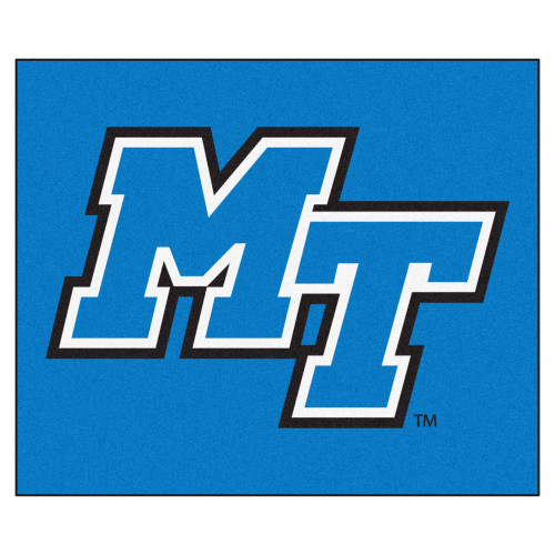 "59.5"" x 71"" Blue NCAA Middle Tennessee State University Blue Raiders Tailgater Mat Outdoor Area Rug - IMAGE 1"