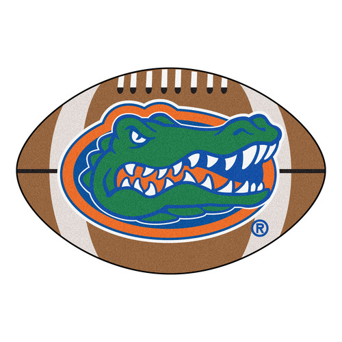 "20.5"" x 32.5"" Brown and Green Contemporary NCAA University of Florida Gators Football Mat - IMAGE 1"