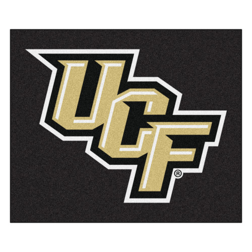 5' x 6' Black and Beige NCAA University of Central Florida Knights Rectangular Outdoor Area Rug - IMAGE 1