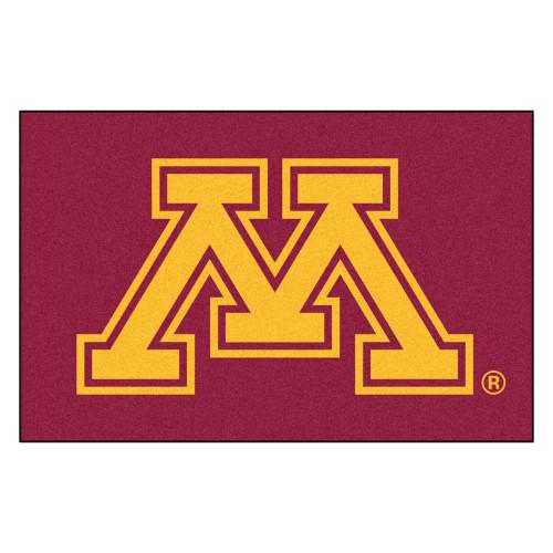 "19"" x 30"" Red and Yellow NCAA University of Minnesota Golden Gophers Starter Rectangular Doormat - IMAGE 1"
