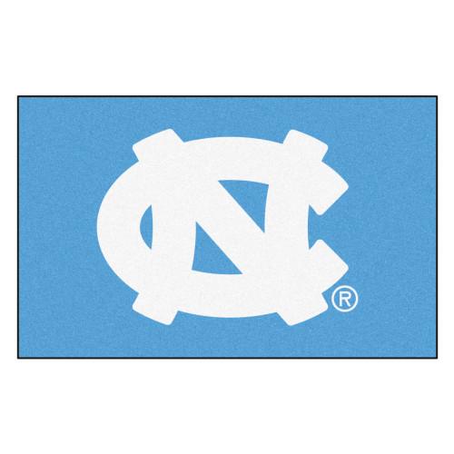 "59.5"" x 94.5"" White and Blue NCAA University of North Carolina Chapel Hill Tar Heels Ulti Mat - IMAGE 1"