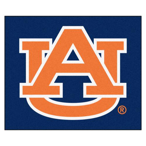 "59.5"" x 71"" Blue and Orange NCAA Auburn University Tigers Tailgater Mat Outdoor Area Rug - IMAGE 1"
