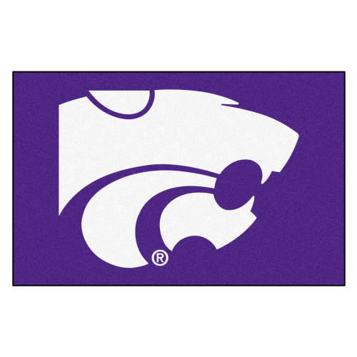 "19"" x 30"" White and Blue NCAA Kansas State University Wildcats Starter Rectangular Mat - IMAGE 1"