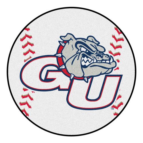 "27"" White and Gray NCAA Gonzaga University Bulldogs Baseball Door Mat - IMAGE 1"