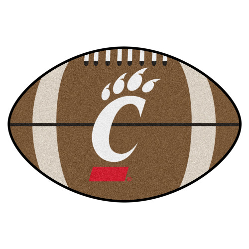 "20.5""x32.5"" Brown NCAA University of Cincinnati Bearcats Football Shaped Mat - IMAGE 1"