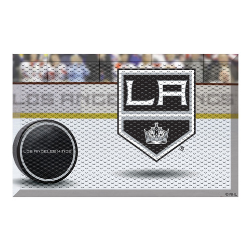 """19"""" x 30"""" Black and White NHL Los Angeles Kings Shoe Scraper Doormat - IMAGE 1"""