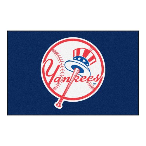 "19"" x 30"" Blue and Red MLB New York Yankees Starter Rectangular Mat - IMAGE 1"