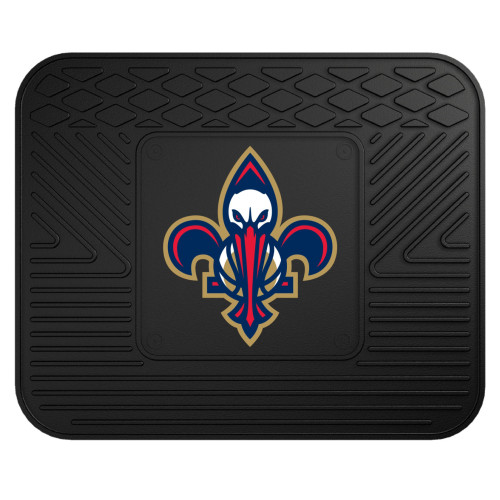 """14"""" x 17"""" Black and Blue NBA New Orleans Pelicans Heavy Duty Rear Car Seat Utility Mat - IMAGE 1"""