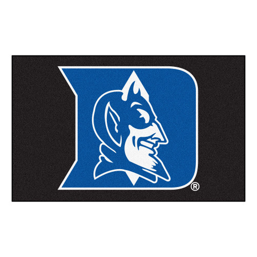 "59.5"" x 94.5"" Black and Blue NCAA Duke University Blue Devils Ulti-Mat Rectangular Area Rug - IMAGE 1"