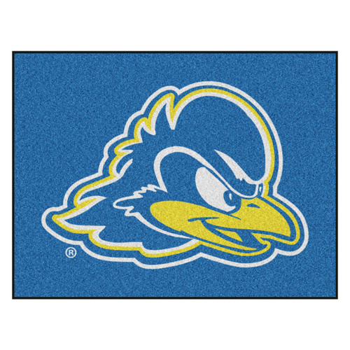 """33.75"""" x 42.5"""" Blue and Yellow NCAA University of Delaware Fightin' Blue Hens All Star Mat Area Rug - IMAGE 1"""