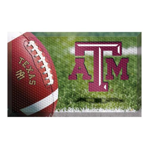 "19"" x 30"" Green and Red NCAA Texas A&M University Aggies Scraper Rectangular Door Mat - IMAGE 1"