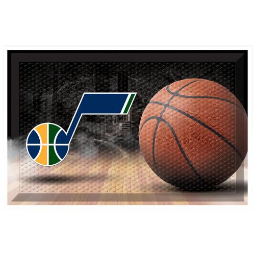 "19"" x 30"" Brown and Blue NBA Utah Jazz Shoe Scraper Doormat - IMAGE 1"