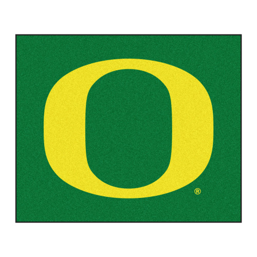 5' x 6' Green and Yellow NCAA University of Oregon Ducks Tailgater Mat Rectangular Outdoor Area Rug - IMAGE 1