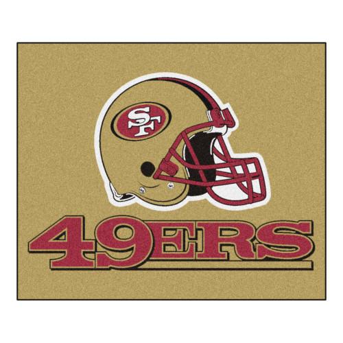 NFL San Francisco 49ers Tailgater Mat Rectangular Outdoor Area Rug - IMAGE 1