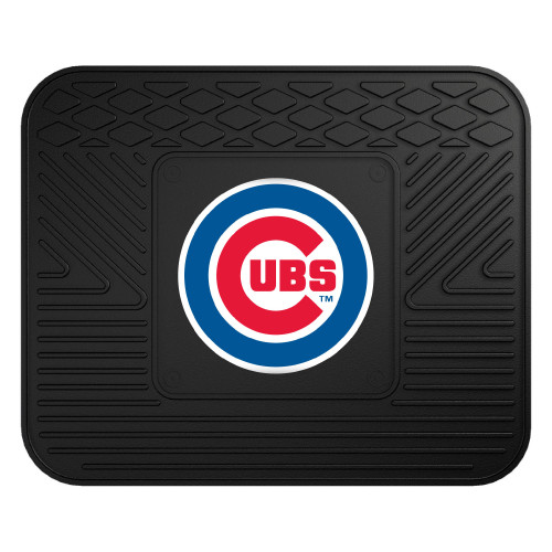 """14"""" x 17"""" Black and Blue MLB Chicago Cubs Heavy Duty Rear Car Seat Utility Mat - IMAGE 1"""