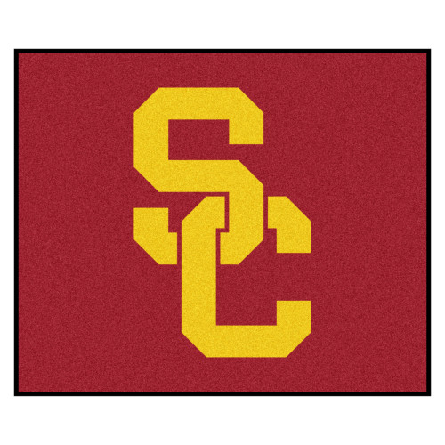 """59.5"""" x 71"""" Red NCAA University of Southern California Trojans Tailgater Mat Outdoor Area Rug - IMAGE 1"""