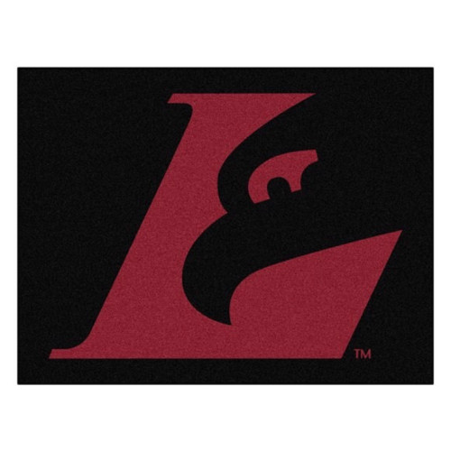 """33.75"""" x 42.5"""" Red and Black NCAA University of Wisconsin-La Crosse Eagles All Star Mat Area Rug - IMAGE 1"""