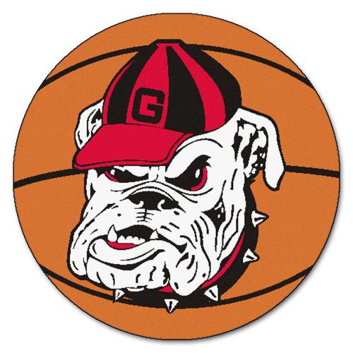 NCAA University of Georgia Bulldogs  Basketball Shaped Mat Area Rug - IMAGE 1