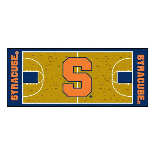 "30"" x 72"" Brown NCAA Syracuse University Orange Basketball Non-Skid Mat Area Rug Runner - IMAGE 1"
