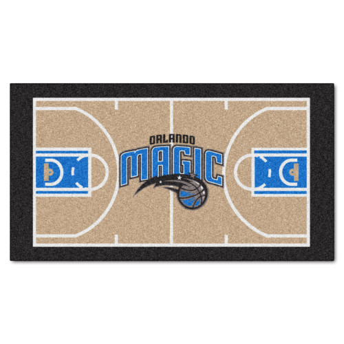 "24"" x 44"" Beige and Black NBA Orlando Magic Court Rug Runner - IMAGE 1"