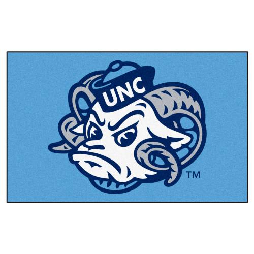 "59.5"" x 94.5"" Blue and White NCAA University of North Carolina Tar Heels Ulti-Mat Outdoor Area Rug - IMAGE 1"