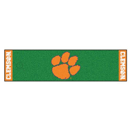 "18"" x 72"" Green and Orange NCAA Clemson University Tigers Golf Putting Mat - IMAGE 1"