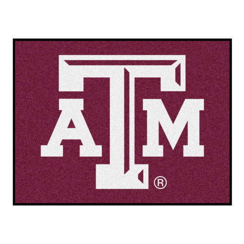 """33.75"""" x 42.5"""" Red and White NCAA Texas A&M University Aggies All Star Rectangular Area Rug - IMAGE 1"""