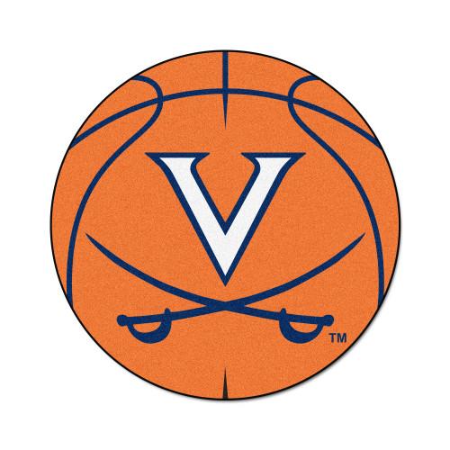 """27"""" Orange NCAA University of Virginia Cavaliers Basketball Door Mat - IMAGE 1"""