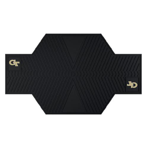 "42"" x 82.5"" Black NCAA Georgia Tech Yellow Jackets Motorcycle Parking Mat Accessory - IMAGE 1"