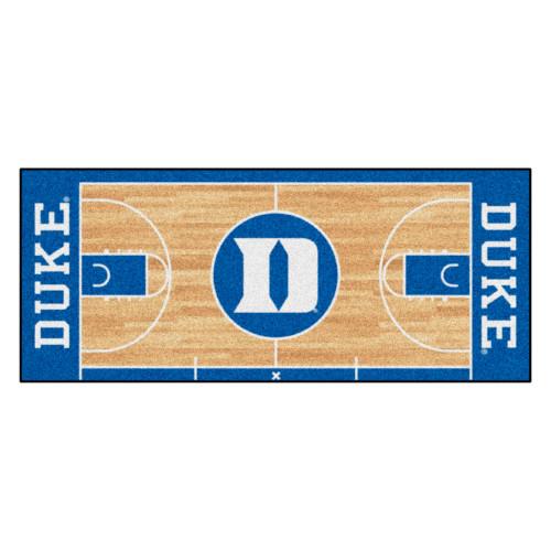 """30"""" x 72"""" Blue and White NCAA Duke University Blue Devils Basketball Non-Skid Mat Area Rug Runner - IMAGE 1"""